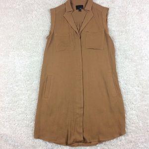 Anthropologie Greylin camel color dress w/ pockets